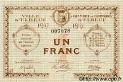 1 Franc FRANCE régionalisme et divers Elbeuf 1917 JP.055.11 SPL à NEUF