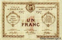 1 Franc FRANCE régionalisme et divers ELBEUF 1917 JP.055.12 SPL à NEUF
