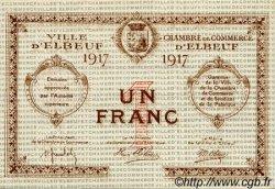 1 Franc FRANCE régionalisme et divers ELBEUF 1917 JP.055.12 TTB à SUP