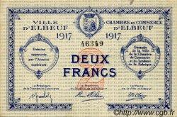 2 Francs FRANCE régionalisme et divers Elbeuf 1917 JP.055.13 TTB à SUP