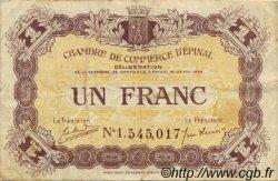 1 Franc FRANCE régionalisme et divers ÉPINAL 1920 JP.056.05 TB