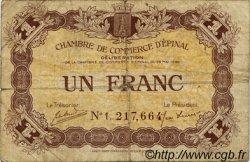1 Franc FRANCE régionalisme et divers ÉPINAL 1920 JP.056.10 TB
