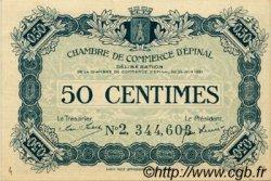 50 Centimes FRANCE régionalisme et divers ÉPINAL 1921 JP.056.12 TTB à SUP