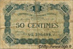 50 Centimes FRANCE régionalisme et divers Épinal 1921 JP.056.12 TB