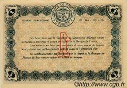 1 Franc FRANCE régionalisme et divers ÉVREUX 1915 JP.057.01 SPL à NEUF