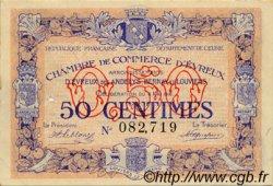 50 Centimes FRANCE régionalisme et divers Évreux 1916 JP.057.02 TTB à SUP