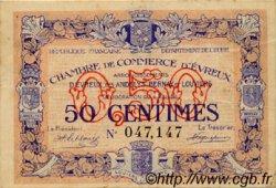 50 Centimes FRANCE régionalisme et divers Évreux 1916 JP.057.02 TB