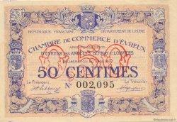 50 Centimes FRANCE régionalisme et divers Évreux 1916 JP.057.08 SPL à NEUF