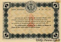 1 Franc FRANCE régionalisme et divers ÉVREUX 1915 JP.057.09 TTB à SUP