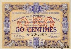 50 Centimes FRANCE régionalisme et divers Évreux 1917 JP.057.10 TTB à SUP