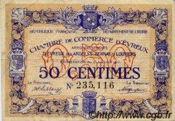 50 Centimes FRANCE régionalisme et divers Évreux 1917 JP.057.10 TB