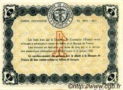 1 Franc FRANCE régionalisme et divers ÉVREUX 1917 JP.057.11 TTB à SUP