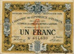 1 Franc FRANCE régionalisme et divers ÉVREUX 1917 JP.057.11 TB