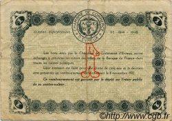 1 Franc FRANCE régionalisme et divers ÉVREUX 1917 JP.057.12 TB