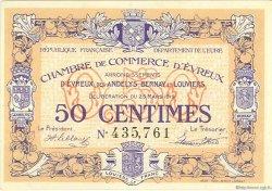 50 Centimes FRANCE régionalisme et divers Évreux 1919 JP.057.13 SPL à NEUF