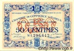 50 Centimes FRANCE régionalisme et divers ÉVREUX 1920 JP.057.18 SPL à NEUF