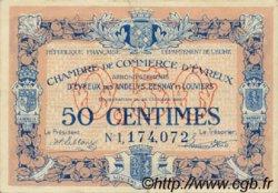 50 Centimes FRANCE régionalisme et divers Évreux 1920 JP.057.18 TTB à SUP