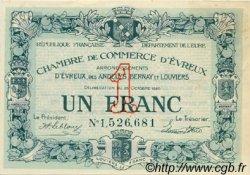 1 Franc FRANCE régionalisme et divers ÉVREUX 1920 JP.057.19 SPL à NEUF
