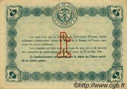 1 Franc FRANCE régionalisme et divers Évreux 1920 JP.057.19 TTB à SUP