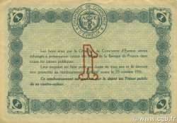 1 Franc FRANCE régionalisme et divers ÉVREUX 1921 JP.057.20