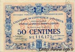 50 Centimes FRANCE régionalisme et divers Évreux 1921 JP.057.21 SPL à NEUF