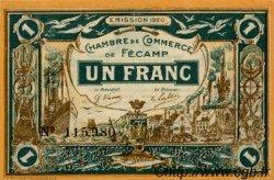 1 Franc FRANCE régionalisme et divers FÉCAMP 1920 JP.058.03 SPL à NEUF