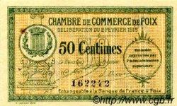 50 Centimes FRANCE régionalisme et divers Foix 1915 JP.059.05 TTB à SUP