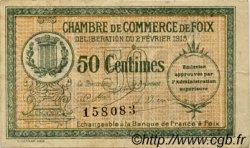 50 Centimes FRANCE régionalisme et divers FOIX 1915 JP.059.05 TB