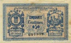 50 Centimes FRANCE régionalisme et divers Foix 1920 JP.059.13 TTB à SUP