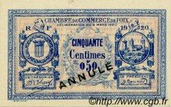 50 Centimes FRANCE régionalisme et divers Foix 1920 JP.059.14 SPL à NEUF