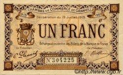 1 Franc FRANCE régionalisme et divers GRANVILLE 1915 JP.060.04 TTB à SUP