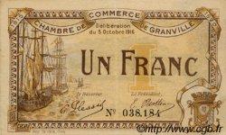 1 Franc FRANCE régionalisme et divers GRANVILLE 1916 JP.060.09 TTB à SUP