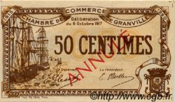 50 Centimes FRANCE régionalisme et divers GRANVILLE 1917 JP.060.12 SPL à NEUF