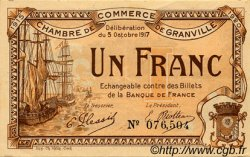 1 Franc FRANCE régionalisme et divers GRANVILLE 1917 JP.060.13 TTB à SUP