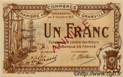 1 Franc FRANCE régionalisme et divers Granville 1917 JP.060.14 SPL à NEUF