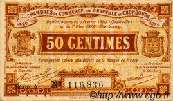 50 Centimes FRANCE régionalisme et divers GRANVILLE ET CHERBOURG 1920 JP.061.01 TTB à SUP