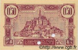 50 Centimes FRANCE régionalisme et divers GRANVILLE ET CHERBOURG 1921 JP.061.06 SPL à NEUF