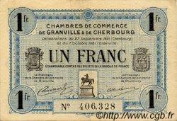1 Franc FRANCE régionalisme et divers GRANVILLE ET CHERBOURG 1921 JP.061.08 TTB à SUP