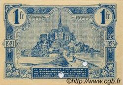 1 Franc FRANCE régionalisme et divers GRANVILLE ET CHERBOURG 1921 JP.061.09 SPL à NEUF