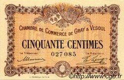 50 Centimes FRANCE régionalisme et divers Gray et Vesoul 1915 JP.062.01 SPL à NEUF