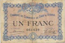 1 Franc FRANCE régionalisme et divers GRAY ET VESOUL 1915 JP.062.03 TB