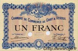 1 Franc FRANCE régionalisme et divers GRAY ET VESOUL 1915 JP.062.04 SPL à NEUF