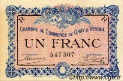 1 Franc FRANCE régionalisme et divers GRAY ET VESOUL 1915 JP.062.09 TTB à SUP