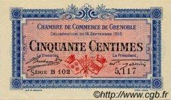 50 Centimes FRANCE régionalisme et divers GRENOBLE 1916 JP.063.01 SPL à NEUF