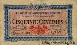 50 Centimes FRANCE régionalisme et divers Grenoble 1916 JP.063.01 TB