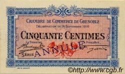 50 Centimes FRANCE régionalisme et divers GRENOBLE 1916 JP.063.02 SPL à NEUF
