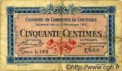 50 Centimes FRANCE régionalisme et divers GRENOBLE 1916 JP.063.03 TB
