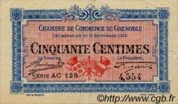 50 Centimes FRANCE régionalisme et divers GRENOBLE 1916 JP.063.04 TTB à SUP