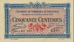 50 Centimes  FRANCE regionalism and various Grenoble 1916 JP.063.05