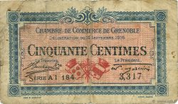 50 Centimes FRANCE régionalisme et divers Grenoble 1916 JP.063.05 TB